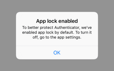 Microsoft Authenticator app lock