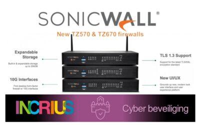 SonicWall update firewalls met de nieuwe TZ570 en TZ670.
